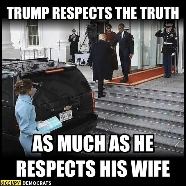 """Poor Melania. President Obama would have never left Michelle at the car and walked ahead. No wonder she wants to stay in New York. She probably thinks, """"I'm free now!"""""""