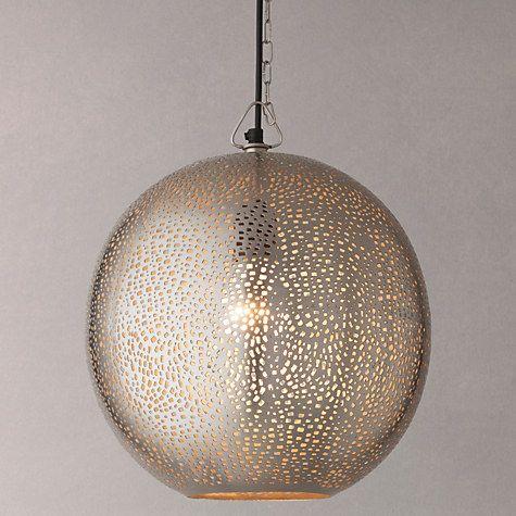 Buy John Lewis Lyra Etched Metal Ceiling Light Online at johnlewis.com