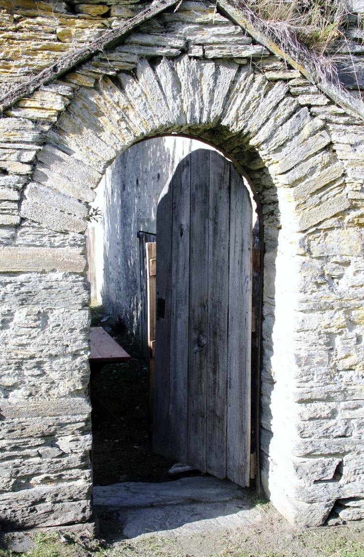 Stone doorway in Central Otago