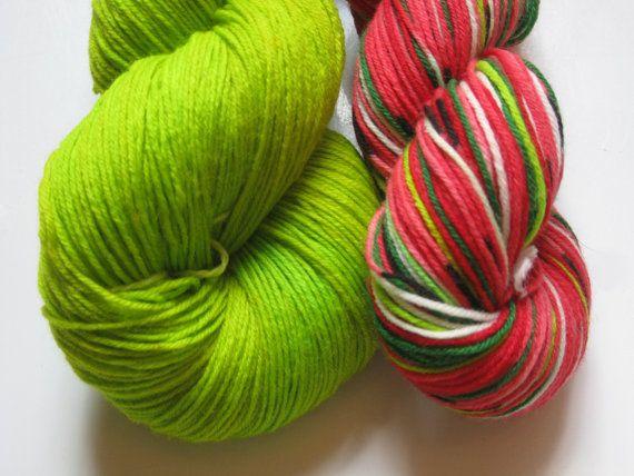 watermelon sock yarn--girls xmas