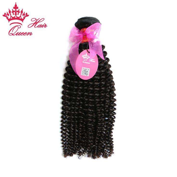 Queen Hair Virgin Brazilian Curly Human Hair Extensions, 1pc/lot Brazilian Virgin Hair Bundles afro Kinky Curly Hair Weaves