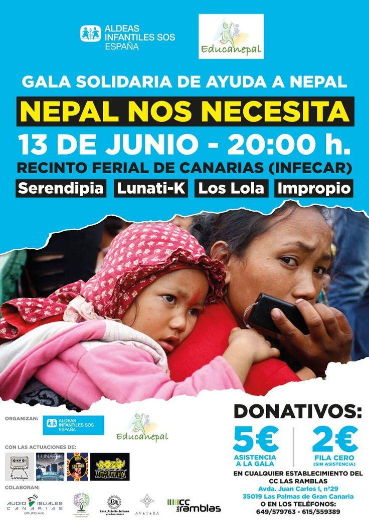 Nepal nos necesita. Participa en el evento del Recinto Ferial - @infecar en #LPGC
