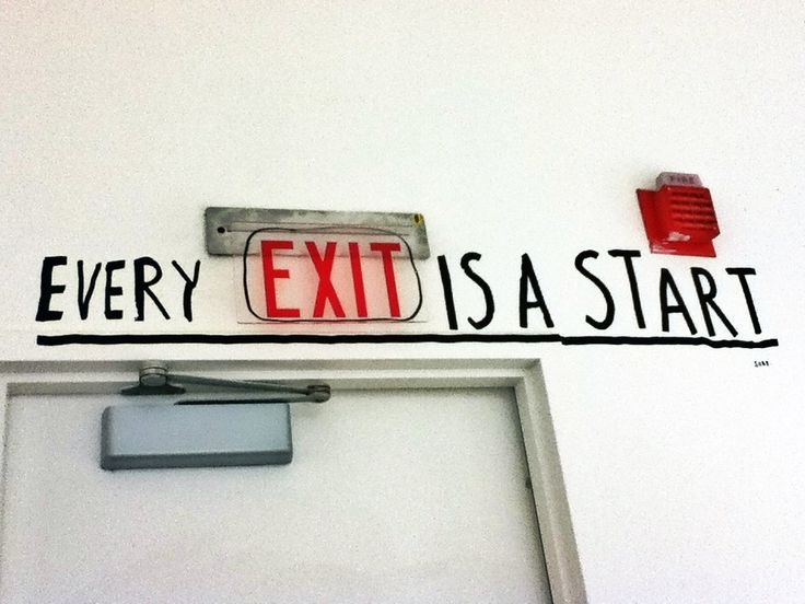 Piece by Stefan Sagmeister from The Happy Show. It's kind of amazing how something so simple like painted words above a door frame could have such an impact. I like the quotes he uses.
