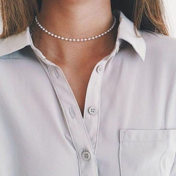 Choker Perlenkette Simple  | eBay