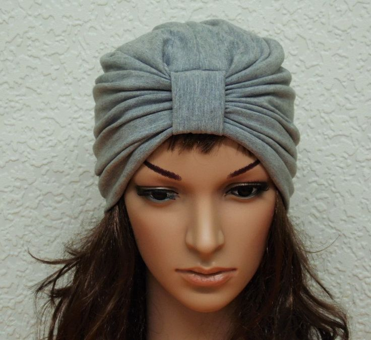 Full turban, light grey turban hat for women, full head covering, viscose jersey turban, summer hat, women's hat, fashion turban by accessoriesbyrita on Etsy