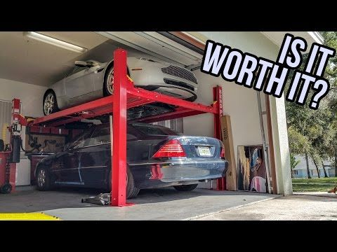 Here's How Much It Costs To Buy A Four Post Lift For Your Garage - YouTube