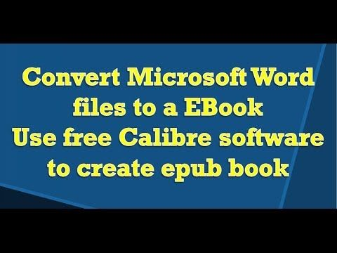 In this video learn how-to convert a Word file in Ebook format using free Calibre format. Link for Calibre software: http://calibre-ebook.com/ Here is a vide...