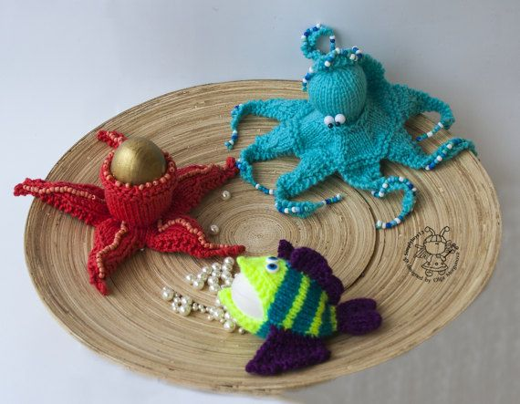 Easter Egg Cozy Marine theme  knitting pattern by simplytoys13