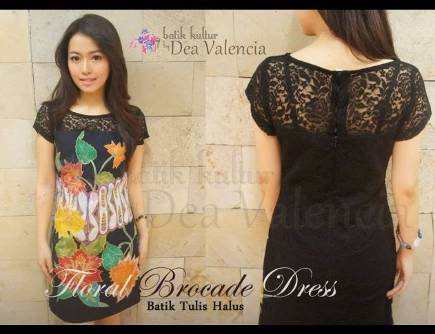 Floral Brocade Dress by a gorgeous, young, talented and wildly successful Indonesian Batik Designer. Batik Kultur by Dea Valencia (previously known as Batik Sinok).