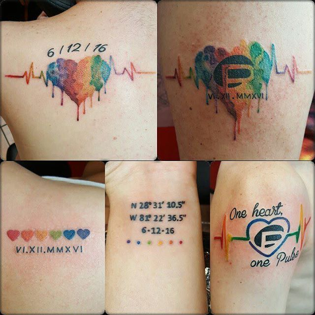 best 25 pulse tattoo ideas on pinterest music notes forever tattoo and orlando tattoo. Black Bedroom Furniture Sets. Home Design Ideas