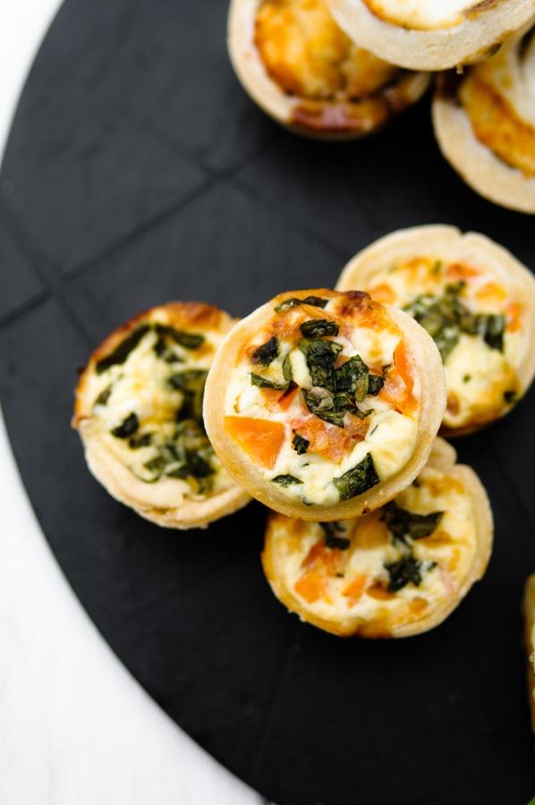 Delicious mini quiche by Posh Nosh (East Midlands)  www.poshnosheastmidlands.com