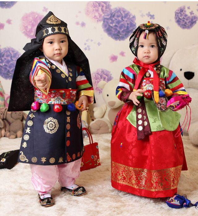 Traditional Korean 1st Birthday Dress (Hanbok)
