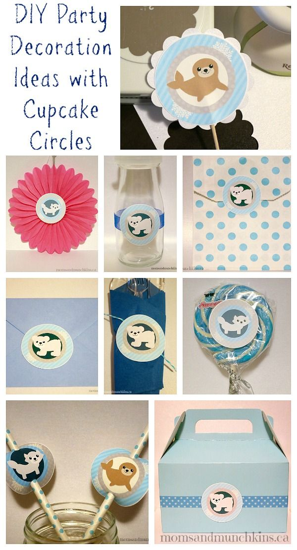 DIY Party Decoration Ideas with Cupcake Circles #Parties