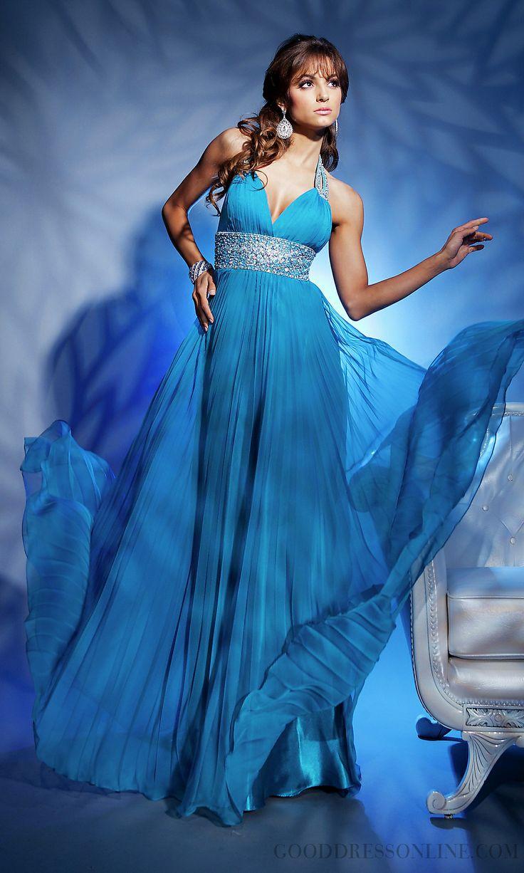 Vintage Beading Floor-length Evening Dresses