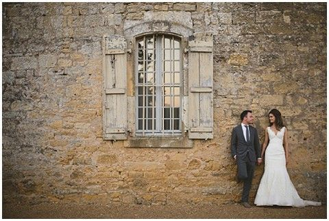 Idyllic wedding ceremony within the French countryside for Kelly and Sam