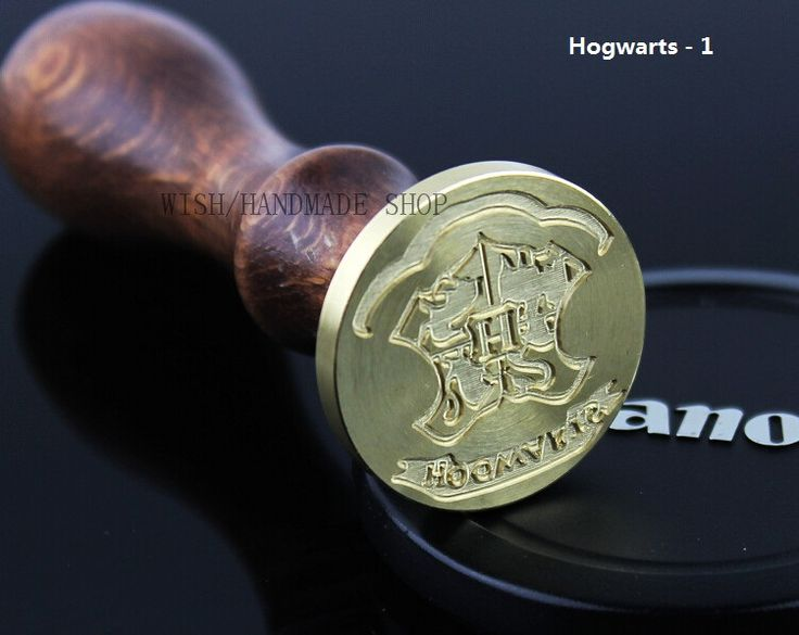 Vintage Classic Wax Seal Stamps Brass Stamp With Wooden Handle Hogwarts And Gryffindor Badge Accessories