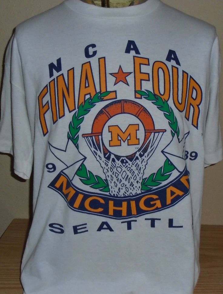 vintage 1989 Michigan Wolverines basketball Final Four t shirt XL by vintagerhino247 on Etsy