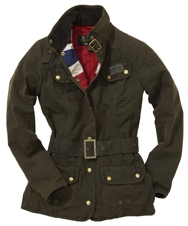 Barbour jackets with Union Jack linings
