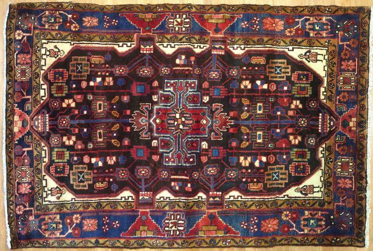 Neat Nahavand - 1940s Antique Persian Rug - Hamadan Carpet - 4.7 x 7 ft. | eBay