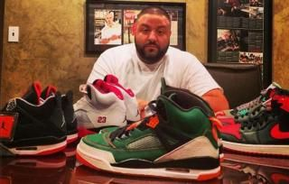DJ Khaled Shows Off Rare Jordan Spizikes (@Khaled Hassan @Jordan)- http://getmybuzzup.com/wp-content/uploads/2013/12/232173-thumb.jpg- http://getmybuzzup.com/dj-khaled-shows-rare-jordan-spizikes-djkhaled-jumpman23/-  DJ Khaled Shows Off Rare Jordans We The Best Producer DJ Khaled is known for having quite the sneaker collection as he frequently showcases his rare and exclusive sneakers via his Instagram page. Today was no different as Khaled showed off a pair of the super rare