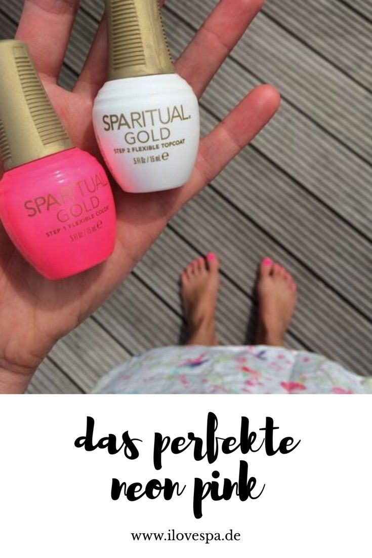 Das perfekte Neon Pink - Nagellack - Nagellack 8 free neon pink - SpaRitual Gold, Maniküre, Pediküre