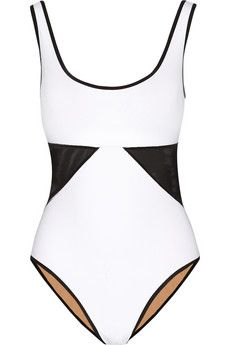 Karla Colletto Powernet mesh-paneled underwired swimsuit | NET-A-PORTER