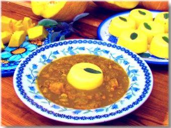Pumpkin soup with cornmeal