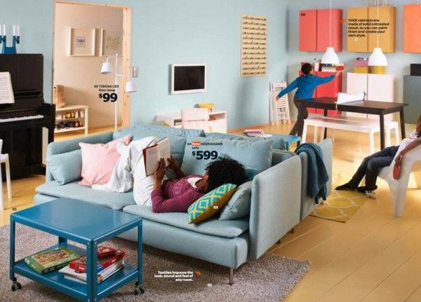 IKEA catalog trends ideas inspiration living room color
