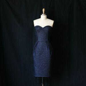 plaid death by denim dress