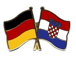 Freundschafts-Pin   Deutschland - Kroatien
