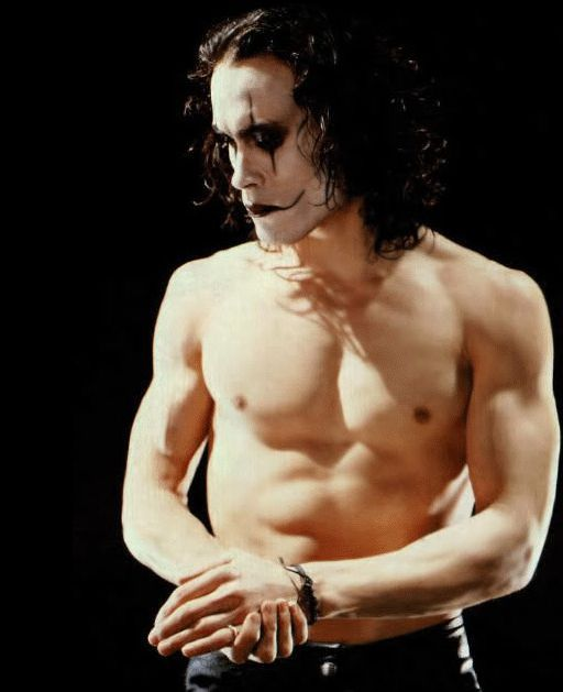 Brandon Lee from CROW.  Royalty, ended too soon!  -Mr. Coleman