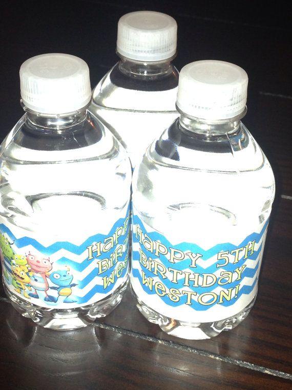 Henry Hugglemonster chevron birthday water bottle by PartiesPlus, $4.00