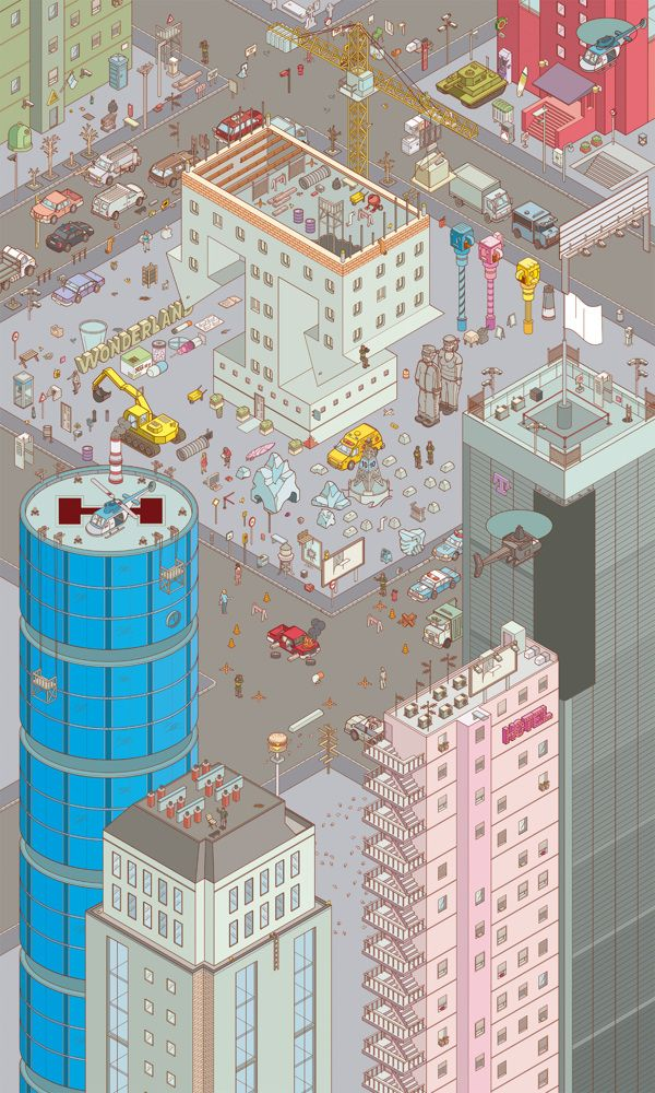 Chaos City by Miquel Tura Rigamonti, via Behance http://www.behance.net/gallery/Chaos-City/6641035