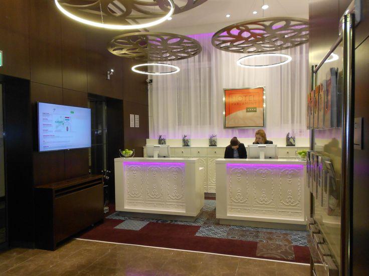Nuova reception dell'Hotel Parlament di Budapest