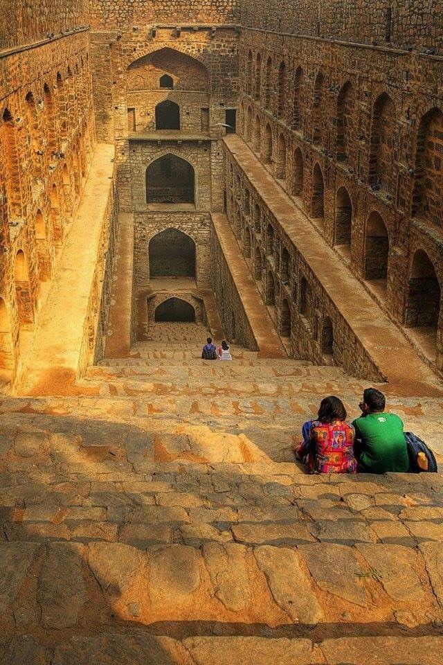 Ancient stepwell , New Delhi.