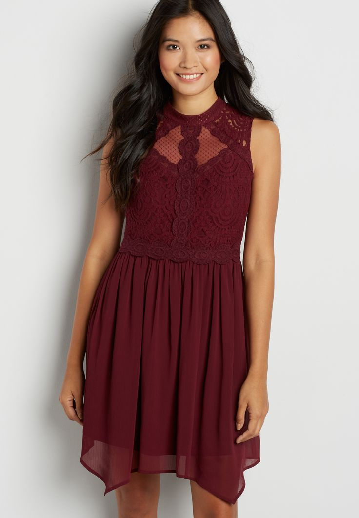 1da13f1359 dress with lace and dot embroidered mesh (original price