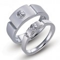 Designer's Titanium Engagement Ring Couple Rings Set