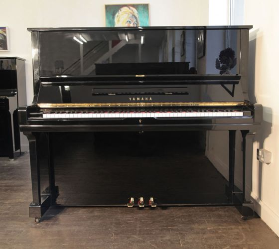 A 1984, Yamaha U3 upright piano with a black case and polyester finish at Besbrode Pianos £3950 This piano comes with a 3 year warranty, first free tuning and a free piano stool. 0% finance available subject to terms and conditions