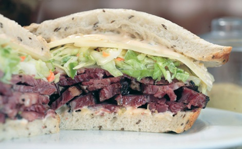 January 14: National Hot Pastrami Sandwich Day. Ewww, but here's Langer's Pastrami Sandwich. Apparently the best in the world.