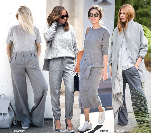 All Grey | Grey fashion, Fashion, Grey outfit