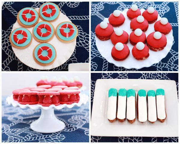 Blue Baby Shower Inspiration | Nautical Red and Blue Desserts
