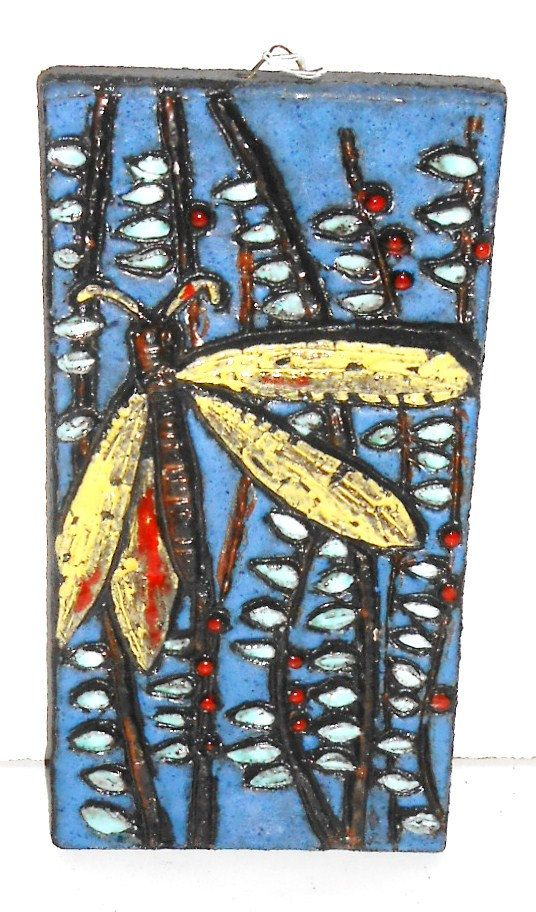 Ruscha Dragonfly Fat Lava Space Age Pop Art Wall Tile