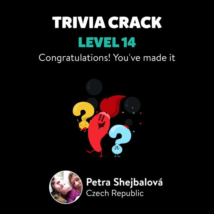 Petra Shejbalová just leveled up to Lv. 14 on Trivia Crack!