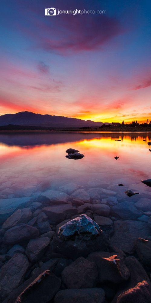 Lake Tekapo sunrise X pano - New Zealand | Jon Wright photo