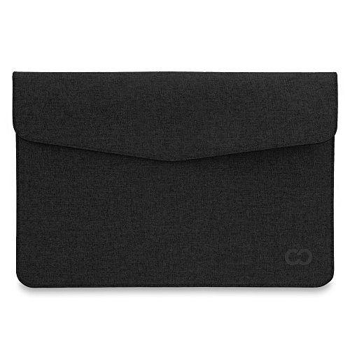 15 Inch MacBook Pro / Laptop CaseCrown Campus Sleeve / Slim Canvas (Black Stealth)