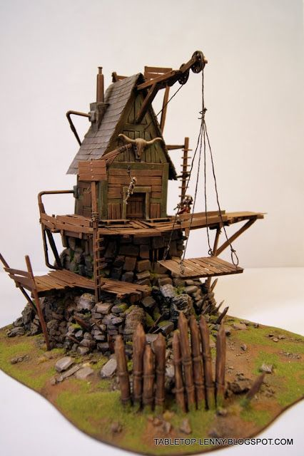 WARGAMING TERRAIN: STEAMPUNK HOUSE for MALIFAUX or WARMACHINE