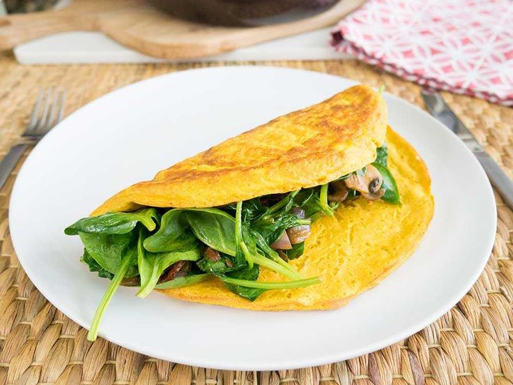 A whopping 35g of protein in this vegan omelette! Getting protein at breakfast has never been easier or more delicious on a vegan diet.