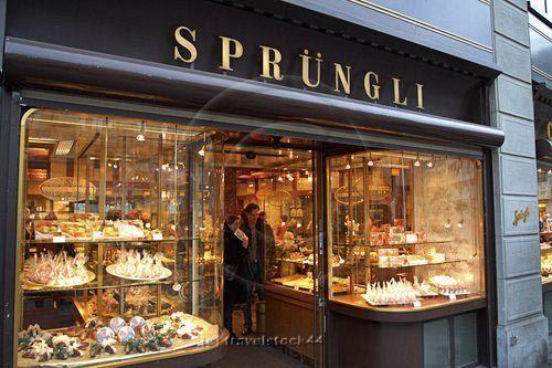 Sprungli chocolate specialty store in Zurich, Switzerland.....amazing Vermicelles cupcakes!