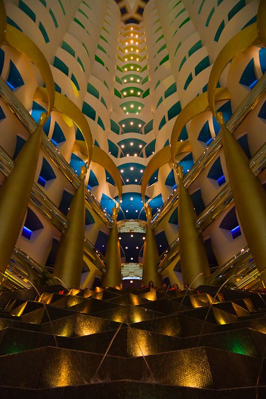Where to dine in the Burj Al Arba? Afternoon tea at the Sahn Eddar is quite lovely with views out to the Jumeriah Beach Hotel.  If you choose to go up to the Skyview Bar, you will get to see that the Palm Juemriah is in fact shaped like a palm tree.
