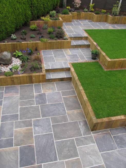 Jardines de estilo moderno por BARTON FIELDS LANDSCAPING SUPPLIES